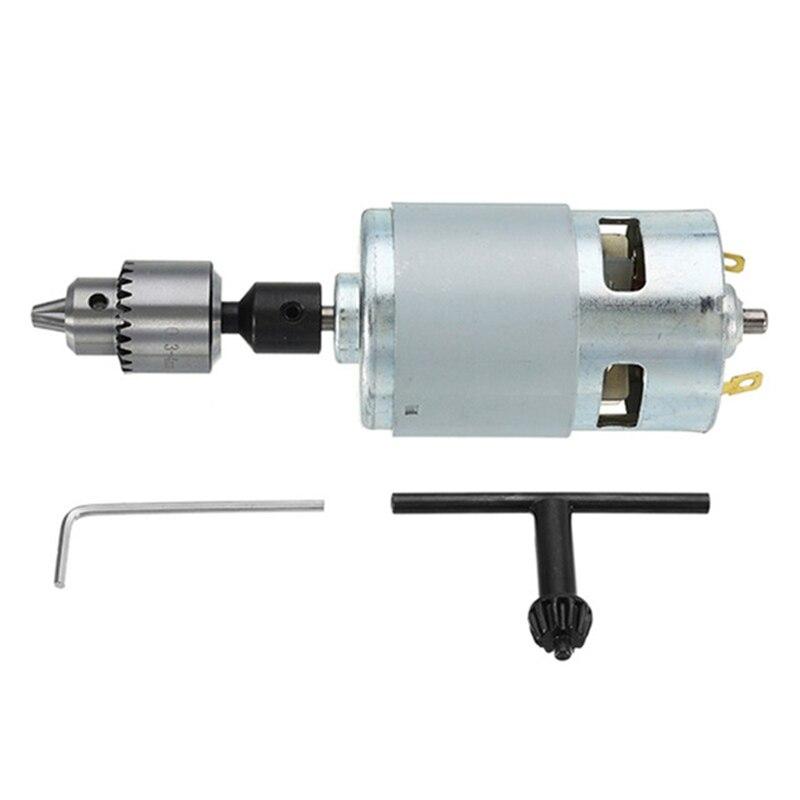 Perceuse électrique à moteur Dc 12-24 V 775 avec mandrin de forage moteur à courant continu pour le polissage de la coupe de forage
