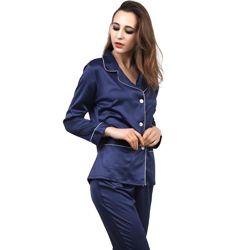 Women Satin Pajama Set Robe Silk Sets Full