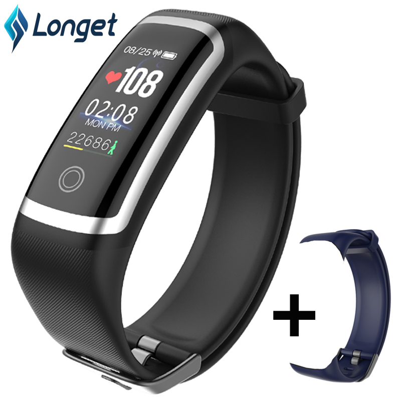 Longet Smart Wristband M4 Blood Pressure Sport Fitness Tracker Waterproof Heart Rate Monitor Sleep Monitor New for iOS Android
