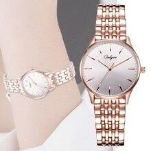 Watches Women Wrist Quartz Stainless Steel Waterproof Silver Rose Gold Ladies Dress Watch Relogio Feminino Montre Femme 83000