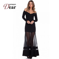 R70229 New Arrival Long Sleeve Sexy Dress Summer With Unique Design Off Ther Shoulder Cheap Clothes