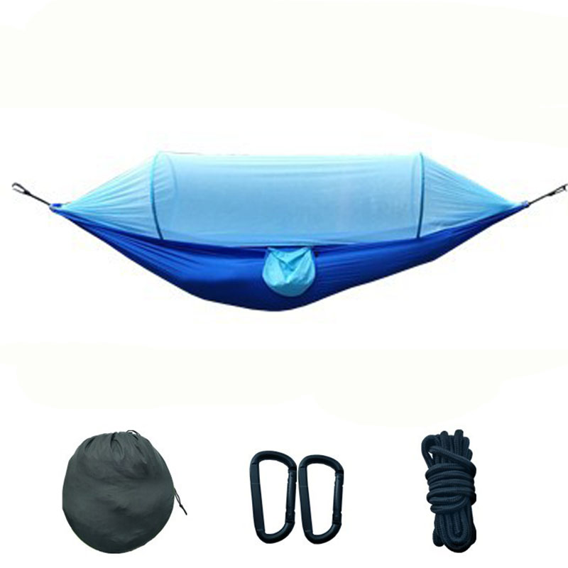 Two-person Automatic Mosquito Net Hammock Prevent Insect Swing Chair 275*145cm Outdoor Patio Furniture Handing Bed NewestTwo-person Automatic Mosquito Net Hammock Prevent Insect Swing Chair 275*145cm Outdoor Patio Furniture Handing Bed Newest