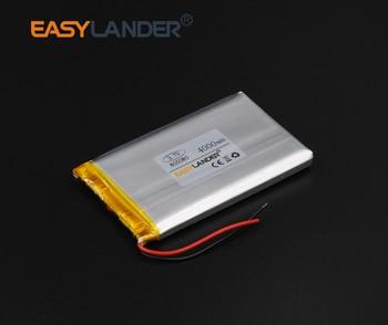 50pcs/Lot 3.7V 4000mAh Rechargeable li Polymer Li-ion Battery For lectronic part DIY Speaker Flash lighting GPS 805080 085080
