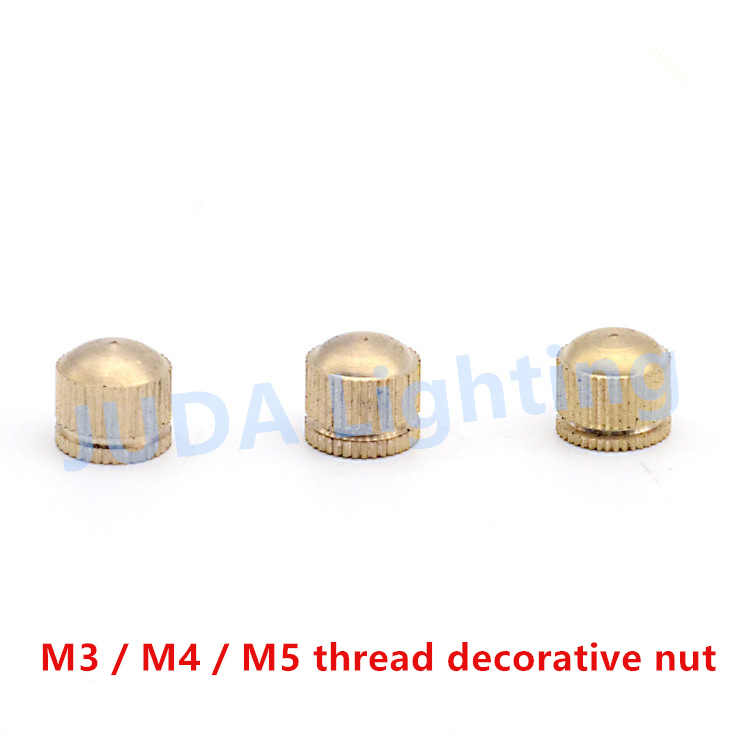 M3 M4 M5 резьба из чистой меди декоративная гайка для люстры потолочный розовый навес edison led подвесной светильник латунные аксессуары для освещения