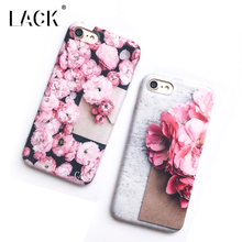 LACK Phone Case For iphone 7 7 Plus Retro Roses Flowers Cases Luxury Soft IMD Capa Cute Cartoon Candy Floral Back Cover
