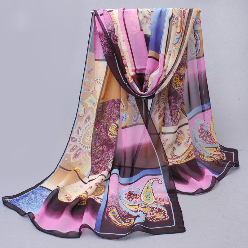 Chiffon Silk Scarf 2019 Scarf Female Summer And Autumn All-match Scarf Long Polyester Air Conditioning Cape Silk Scarves Shawl