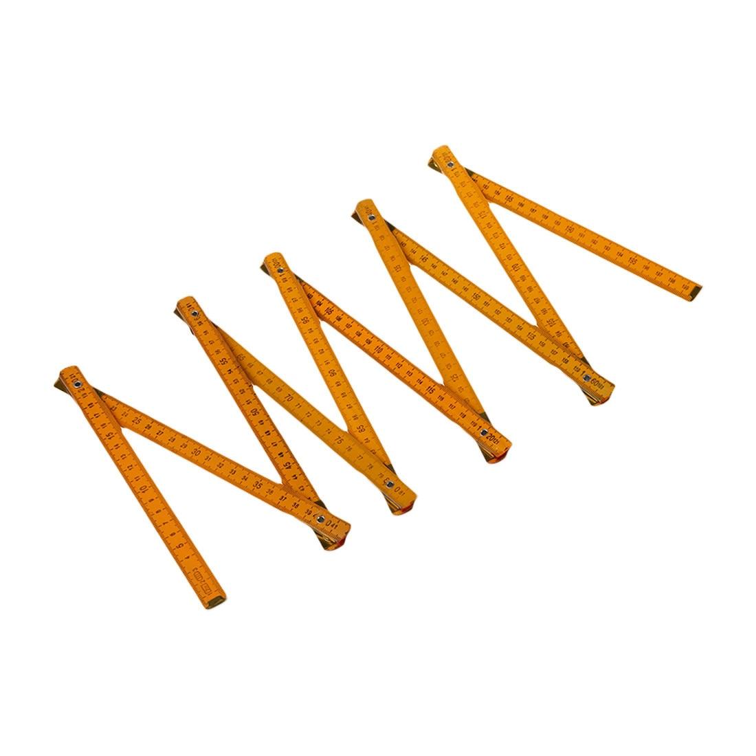 Affordable Portable Carpenter Wooden Folding Ruler 100cm/39inch