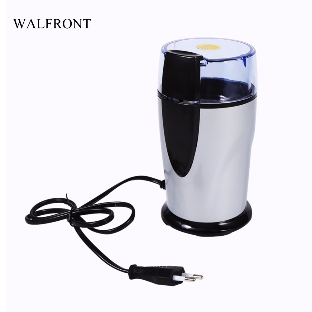 WALFRONT 220V-240V Portable Electric Coffee Spice Grinder Antirust Mill Beans Nuts Grinding Machine Home Crush Power Tools abs plastic electric pepper spice sea salt mill grinder muller yellow