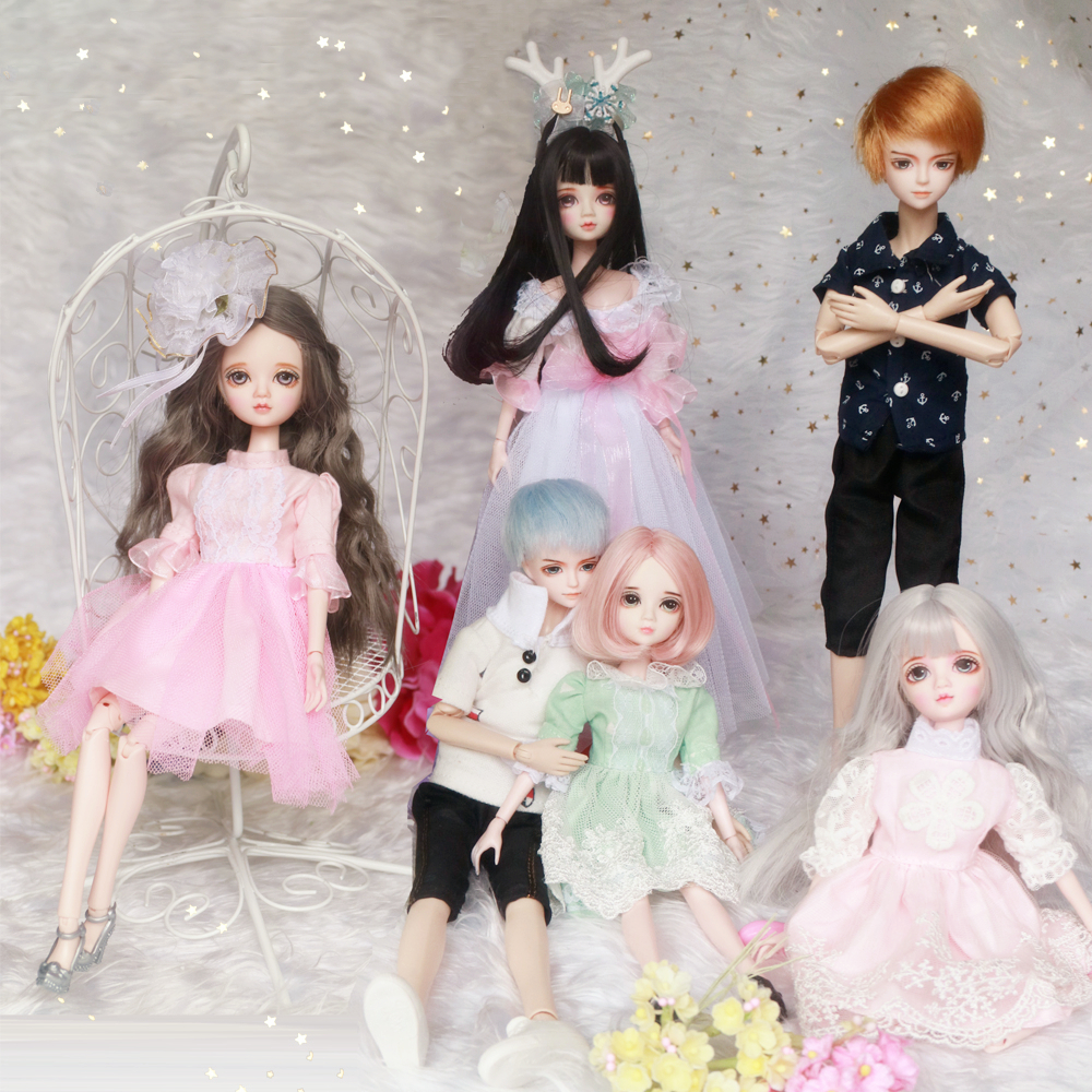 Movable Body Parts with 9 Pairs Hands DIY for Blythe 12inch Doll White Skin
