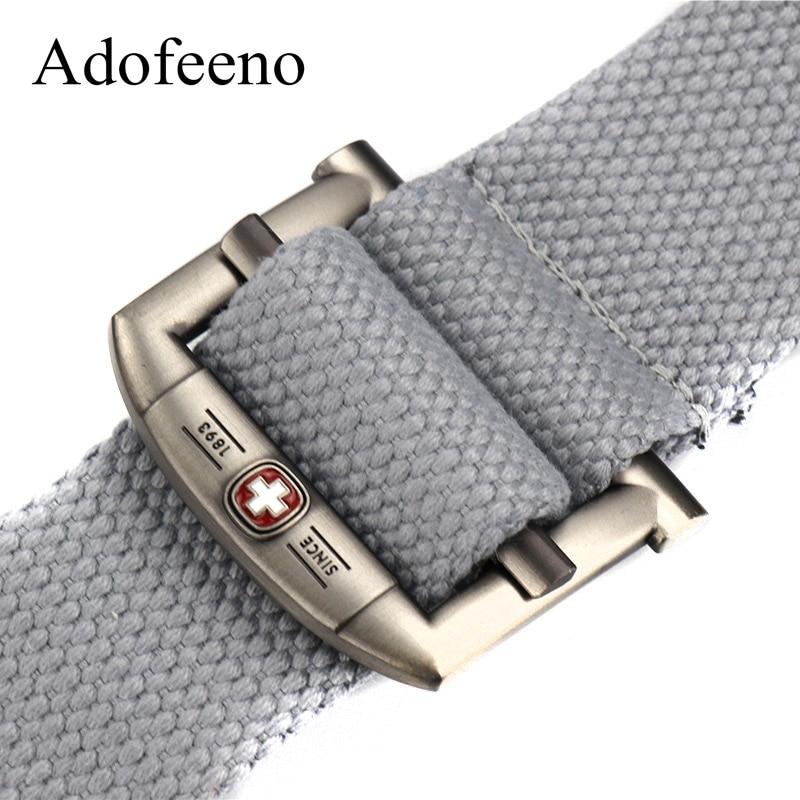 Adofeeno Militär Tactical Canvas Belt Casual Mäns Ringar Accessoarer Militärutrustning Cinto Masculino Cinturon Men