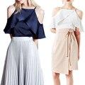La moda de Nueva 2017 Mujeres Del Verano Tops Sexy Camisa de Cuello Cuadrado Sólido Elegante Correa Femenina Camisetas