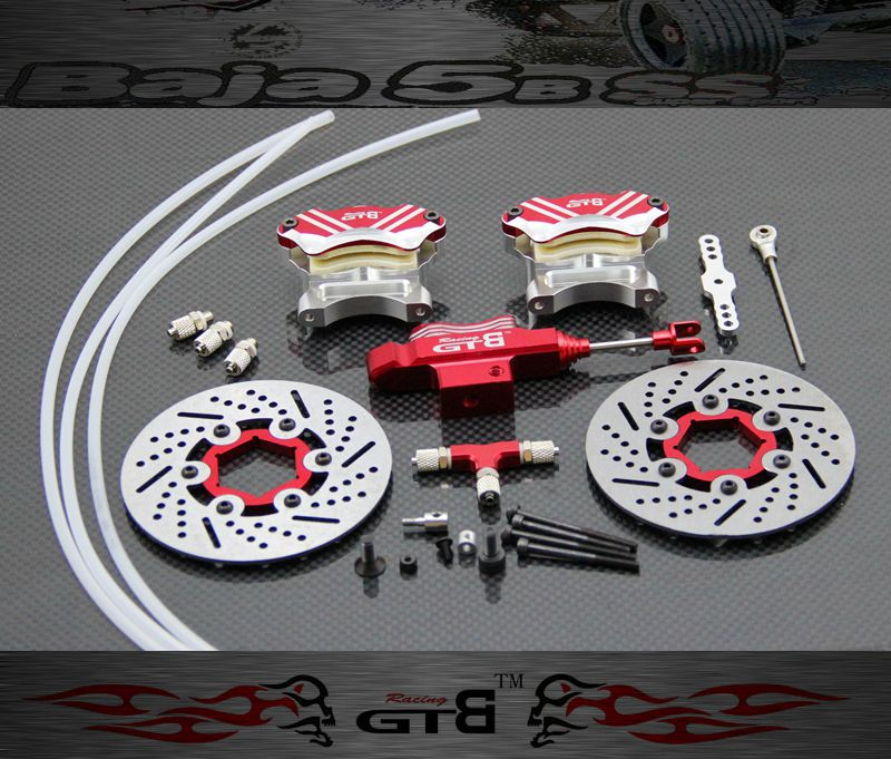 GTB front hydraulic brake for hpi baja 5b ss 5t Brake fluid main pump combination for gtb 4 wheel hydraulic brake set fit for 1 5 rc car hpi baja 5b ss