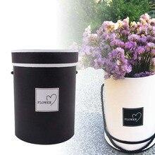 Портативный цветочный букет мини бумажная упаковочная коробка чехол с крышкой обнимает ведро флорист подарочные коробки для хранения экологически чистые практичные коробки