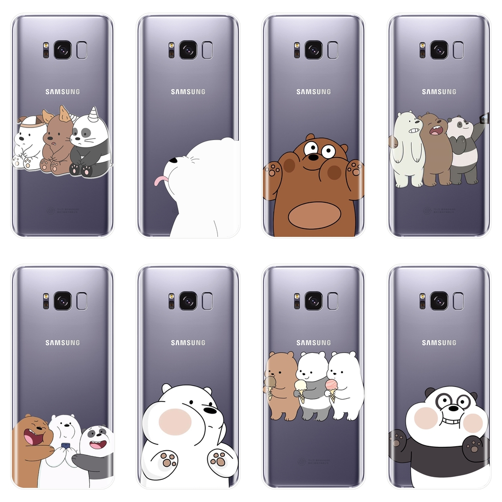 Back Cover For Samsung Galaxy Note 9 8 5 4 Cute We Bare Bears Soft Silicone Case For Samsung S8 S9 Plus S5 S6 S7 Edge Phone Case image