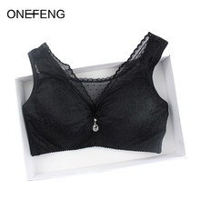 ONEFENG Sexy Lace Underwear Mastectomy Bra with Pockets for Artificial Breast Prosthesis Woman Without Steel Ring(China)