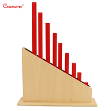 цена Montessori Number Red Rods With Stand Wood Materials for Kids  Professional Teaching Toys Math Sticks Educational Toy SE011-NX3