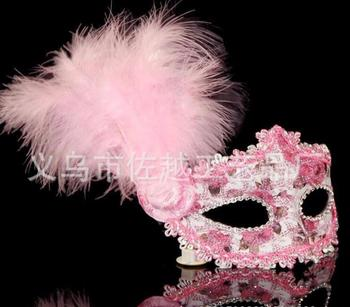 50pcs Hot Cheap Factory Direct Painting Mask Venetian Mask Side Flower Princess Mask Butterfly Mask Feather Leather Models