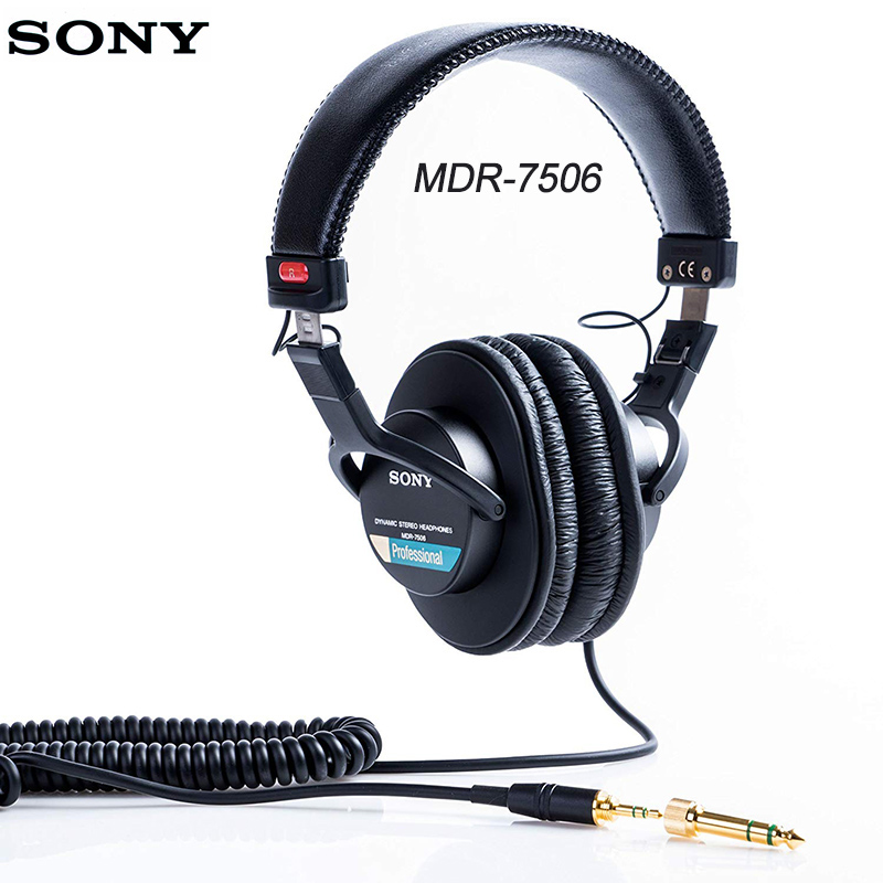 Original Sony Over-Ear <font><b>Headphones</b></font> Headset Enclosed DJ Monitor Noise Cancel Earphone 3.5MM/6.3MM For Xperia XZ3 Iphone SAMSUNG