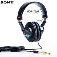Originale Sony Over-Ear Cuffie Auricolare Chiuso Monitor DJ Rumore Annullare Trasduttore Auricolare di 3.5 MM/6.3 MM Per Xperia XZ3 Iphone SAMSUNG