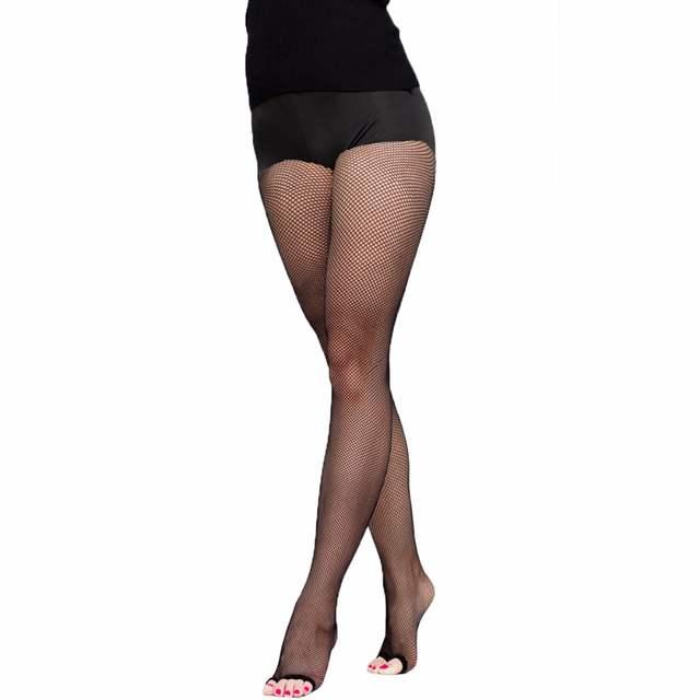 e03b1964b placeholder Mulheres Meias Arrastão de Malha Meia-calça Sexy Dedo Aberto  Collants Femme Collant Dança Latina