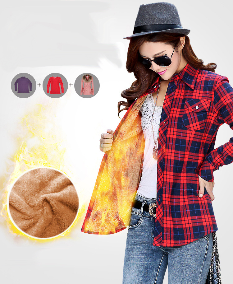 HTB1GZR0NFXXXXXbXpXXq6xXFXXXz - Velvet Thick Warm Women's Plaid Shirt Female Long Sleeve