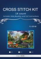 2TH 64-43-Needlework Crafts14CT niezadrukowana hafty Liczone Cross Stitch Kit Zestaw DIY obraz olejny Stare Buty Domu