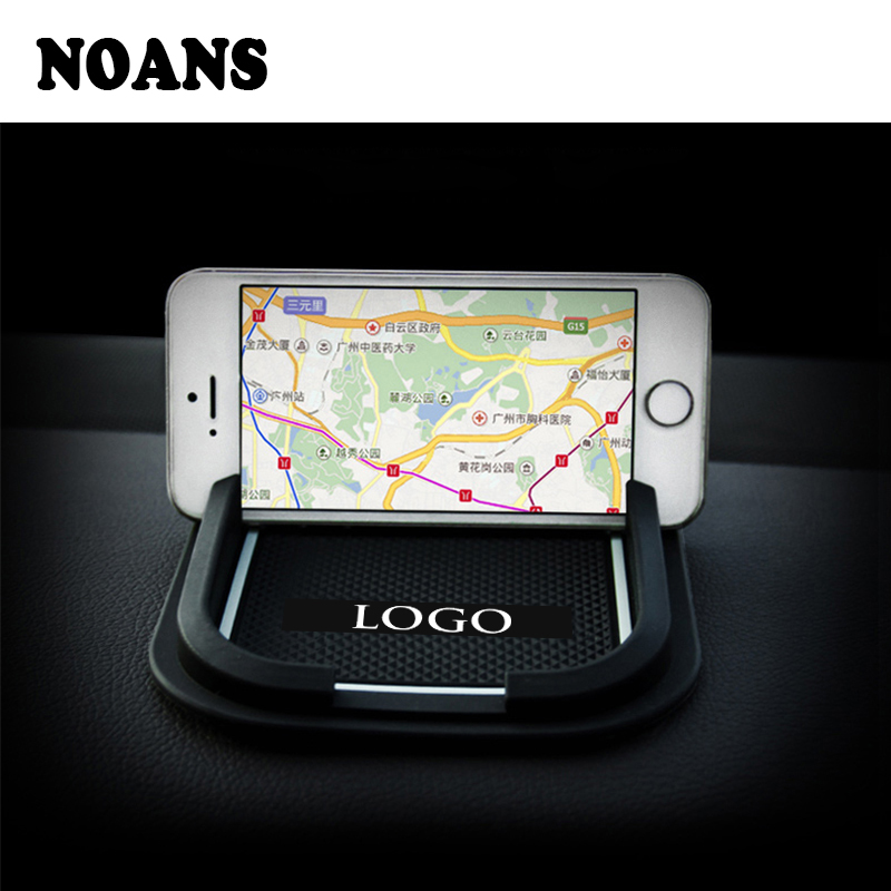 1set Car Non-slip Mat phone Holder Logo For Mitsubishi ASX VW Bora <font><b>Suzuki</b></font> Swift <font><b>SX4</b></font> Grand Vitara Accessories 2017 2018 <font><b>2019</b></font> image