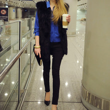 Vintage 2016 Winter Jacket Women Warm Outwear Coat Brand Casacos Femininos Fake Fur Artificial Black Woman Solid Vest Plus Size