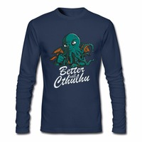 Men S T Shirt Better Call Cthulhu Autumn Printing Graphic Camisetas Hombre Swag T Shirts Long
