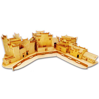 Kids Toy Of 3D Wooden Puzzle For Children And Adult Huizhou Style Residences Montessori Educationaly Diy