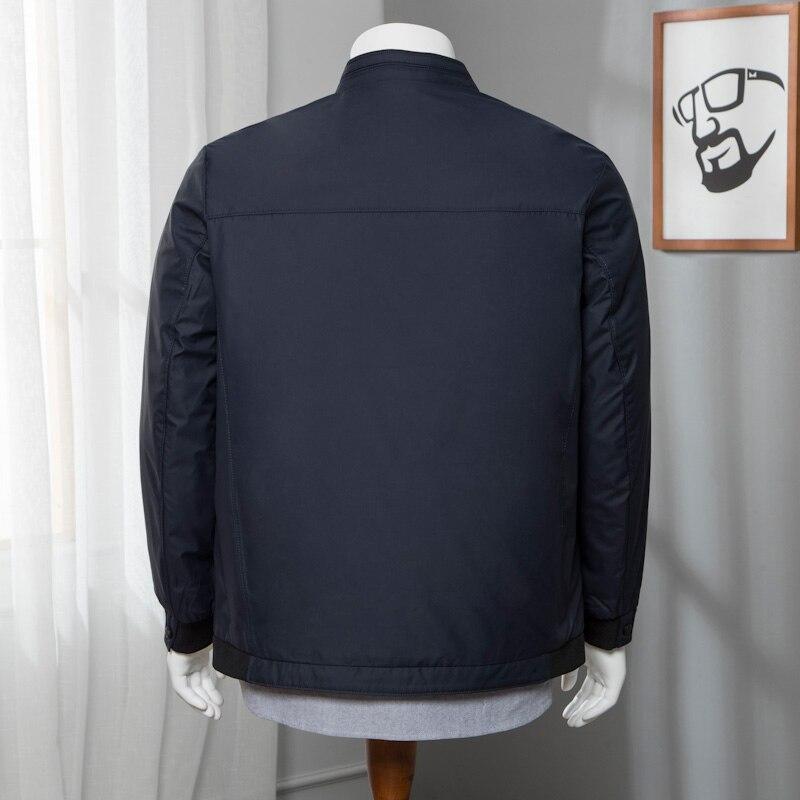 Новое Брендовое черное джинсовое пальто большого размера с буквенным принтом 2019, Мужская модная Свободная Повседневная Уличная одежда, мяг... - 3