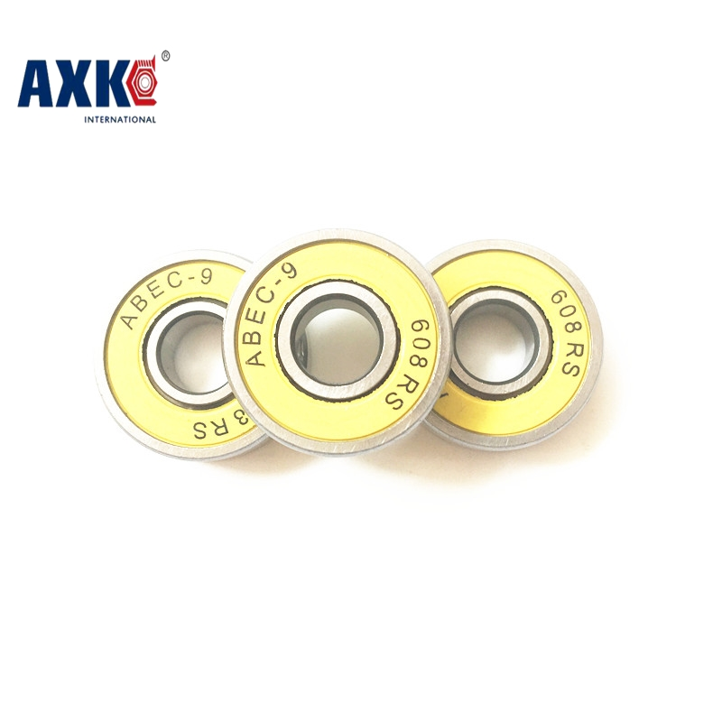Free Shipping ABEC-9 6082rs  22*8*7mm  Drift Skateboard Bearings for Roller Skates  ball bearing 608-2rs Yellow Rubber Seals free shipping skateboard bearing 16pcs lot 608rs 608 2rs 608 ilq 9 pro bearings cover rubber seals
