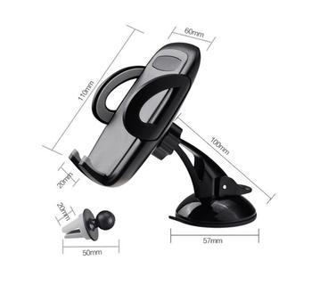 Suction Car Air Vent Clip Phone Stands Holders For Huawei Y7 Prime (2018),Y6 (2018),Mate RS Porsche Design,P20/P20 Pro/P20 Lite