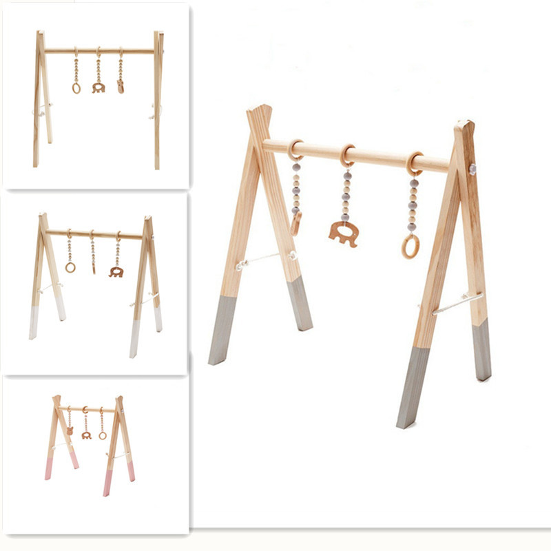 Wooden Baby Gym Accessories & Play Gym Rattle Toy Set Frame Nursery Decor Montessori Sensory Toy Baby Rattles Gifts For Baby