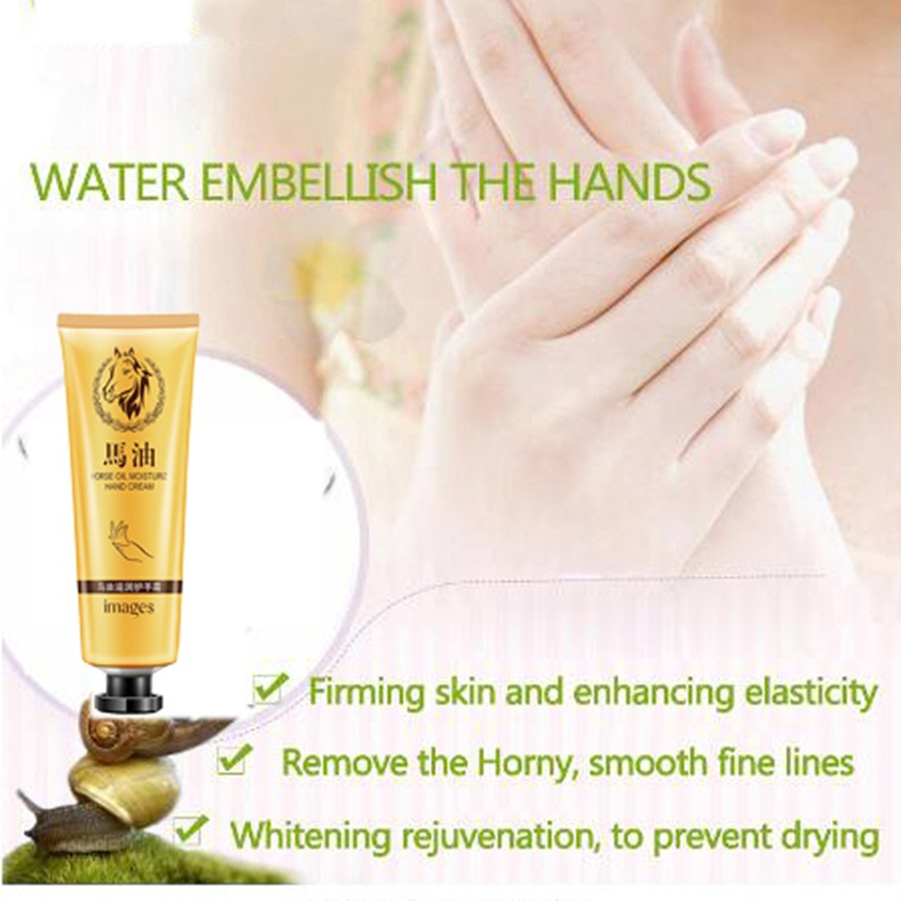 Horse Oil Whitening Hand Cream Nourishing Smooth Hand Massage Lotion Repair Removal Dead Skin Hand Cream Skin Care TSLM1
