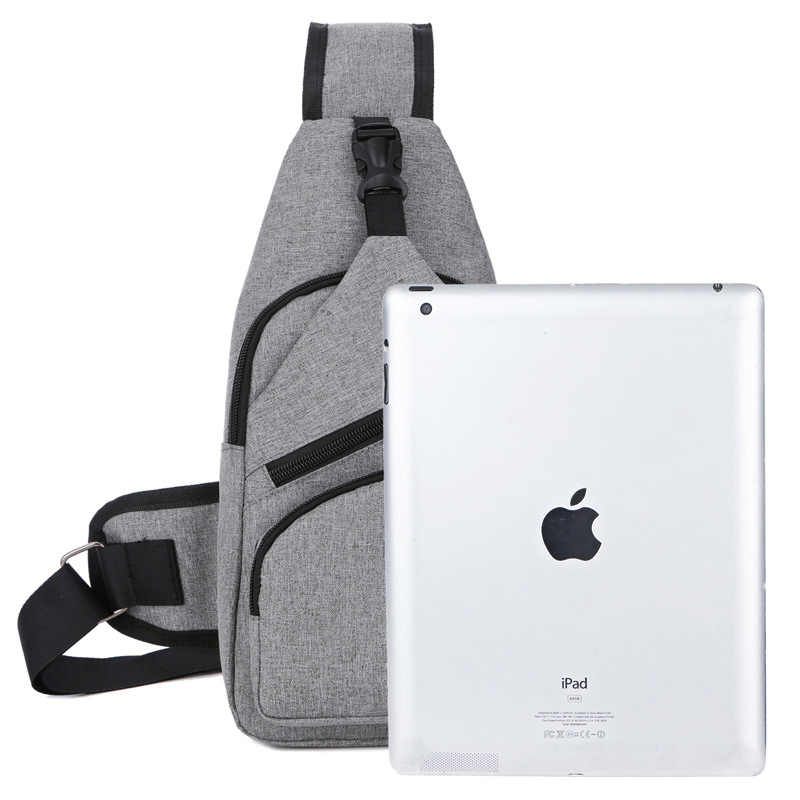 Bolsa de pecho para hombre, bolsa de hombro Oxford, correa de hombro única, bolsa de hombro de Viaje Unisex