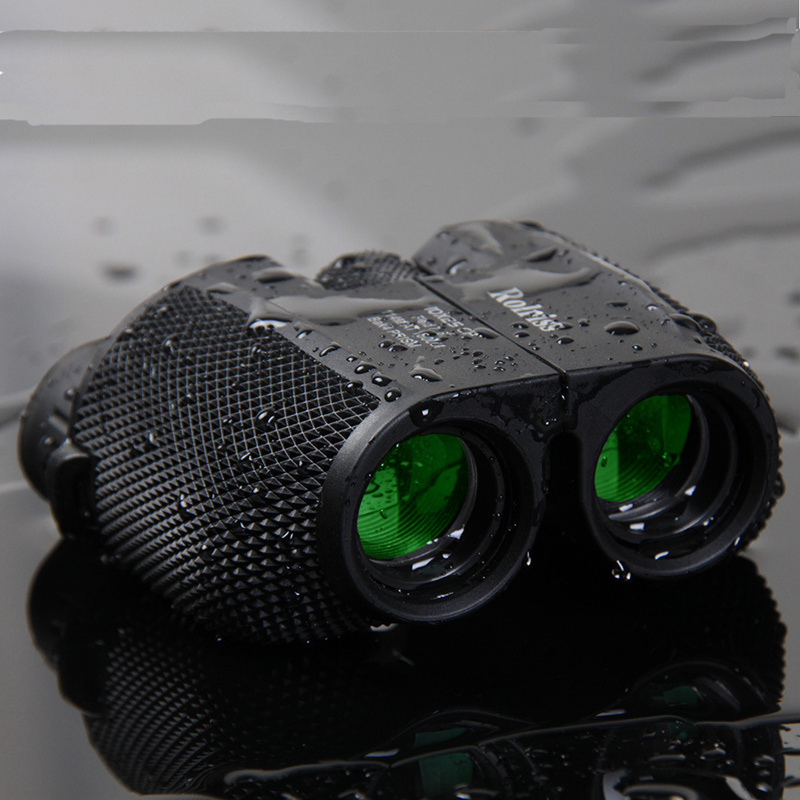 10X25 HD All-optical Green Film Waterproof Binoculars Telescope Bak4 Prism Professional Hunting Optical Outdoor Sports Eyepiece new outdoor binoculars 7x40 military grade waterproof telescope hd green film bak4 prism wide angle with range reticle