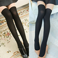Princess sweet lolita pantyhose The new school of Japanese style thread flat stitching false half knee-high  pantyhose LWK113