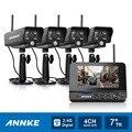 """Annke 7 """"TFT LCD DVR 4CH Digital Wireless Monitor de 4 pcs wifi ip câmera de Segurança CCTV Sistema de Vigilância de vídeo em casa kits"""