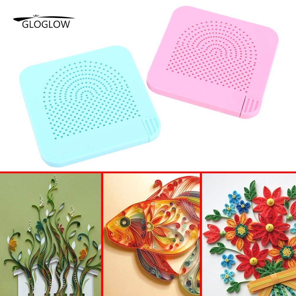 Quilling Paper Tools Set Roll Quillers Grid Guide Wrapped Tray 20 Needles for Paper Crafting Winder Roll Square Craft DIY Tool