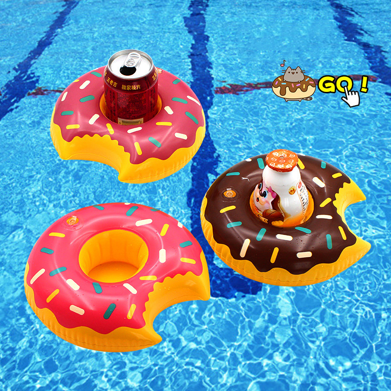 Rooxin Inflatable Drink Beer Holder Donut Cherry Cup Holder for Pool Float Swimming Ring Beverage Holder Water Fun Party Acces