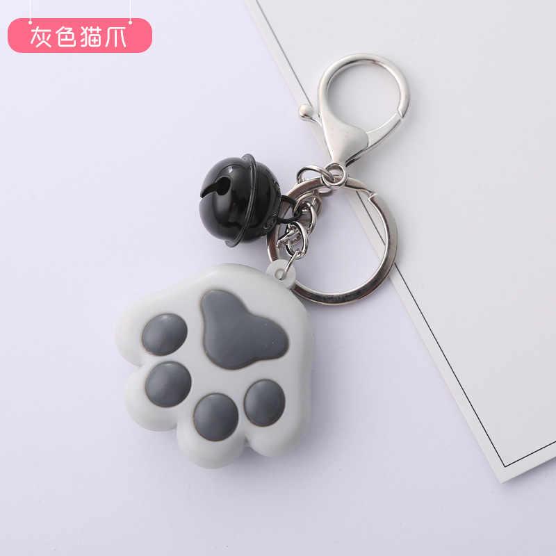 ผู้หญิงยอดนิยม Keychain Creative สามมิติน่ารัก Cat Claw Key Chain นุ่มยางรถกระเป๋าจี้คีย์แหวนจี้ของขวัญ