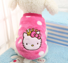 FD53 Free shipping Spring Pet dog shirt Clothes Warm Cartoon Fleece Puppy Dog Cat Hoodie Sweater clothing for Small C