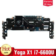 YTAI for Lenovo Thinkpad Yoga X1 laptop motherboard with I7-6600U 8GB RAM FRU: 01AX808 448.04P16.002M mainboard 100% Tested