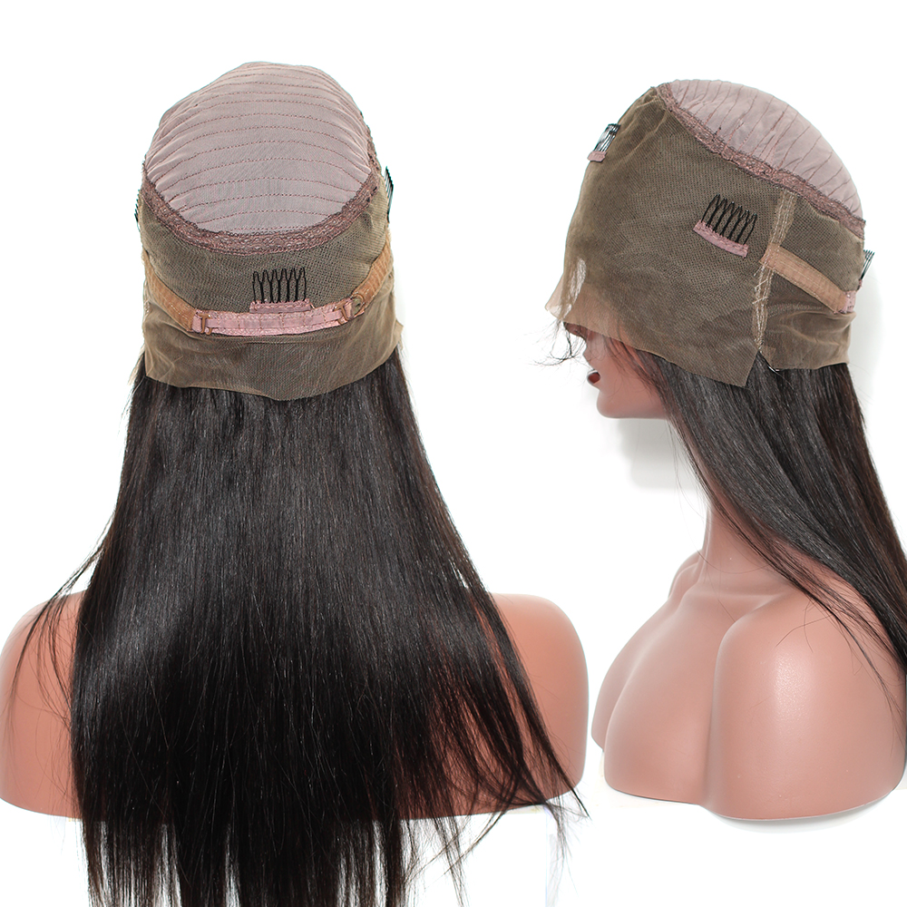360 Lace Frontal Wig With Bangs 150 Pre Plucked Lace