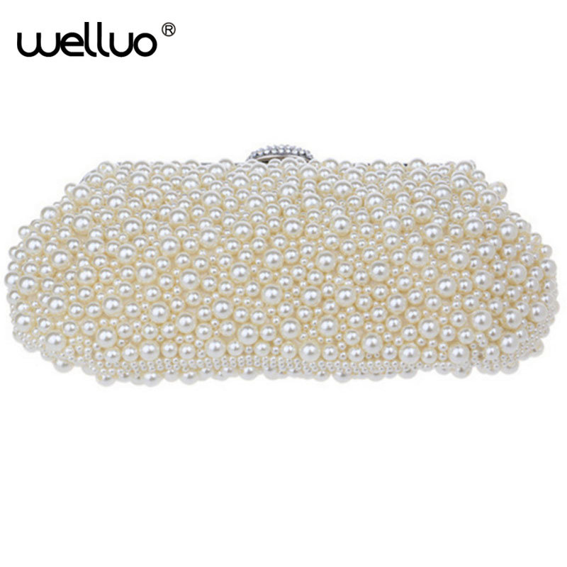 Ladies Crystal Pearl Clutch Fashion Women Rhinestone Evening Bags Bridal Wedding Party Purses Chain Handbag Bolsas mujer XA1046B hot ladies crystal rhinestone clutch women pearl evening bag bridal purse dinner party chain handbag bag bolsas mujer xa1085b