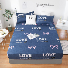 2020 nuevo producto 1 Uds 100% sábana ajustada resistente de poliéster impreso cubierta de colchón cuatro esquinas con banda elástica sábana de cama