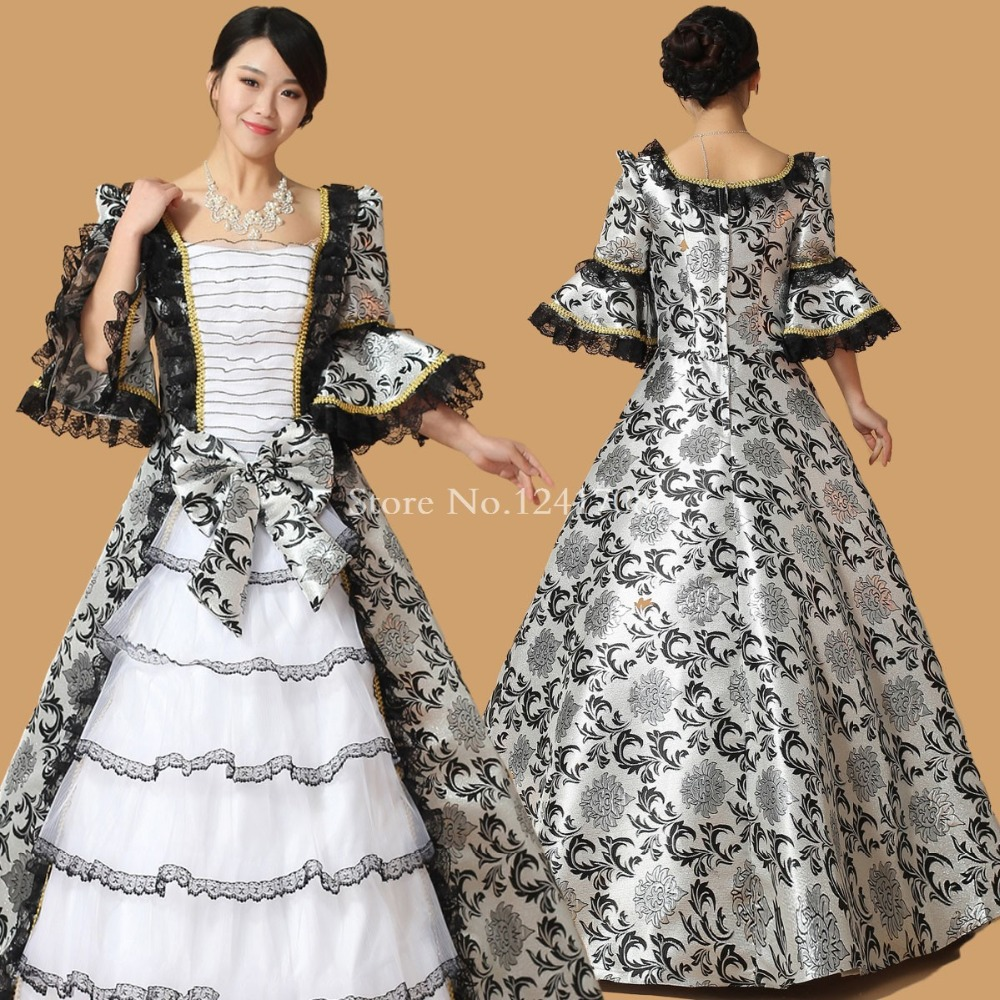 online buy whole th century w from th century black floral 17th 18th century european court marie antoinette dress baroque rococo ball gown prom dress