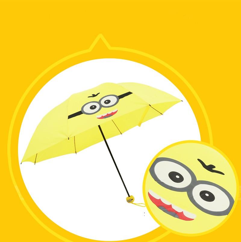 Creative Cute Cartoon Bear Rabbit Totoro Villain Children Umbrella 3 Folding Pongee Windproof Rain Umbrella For Kids7