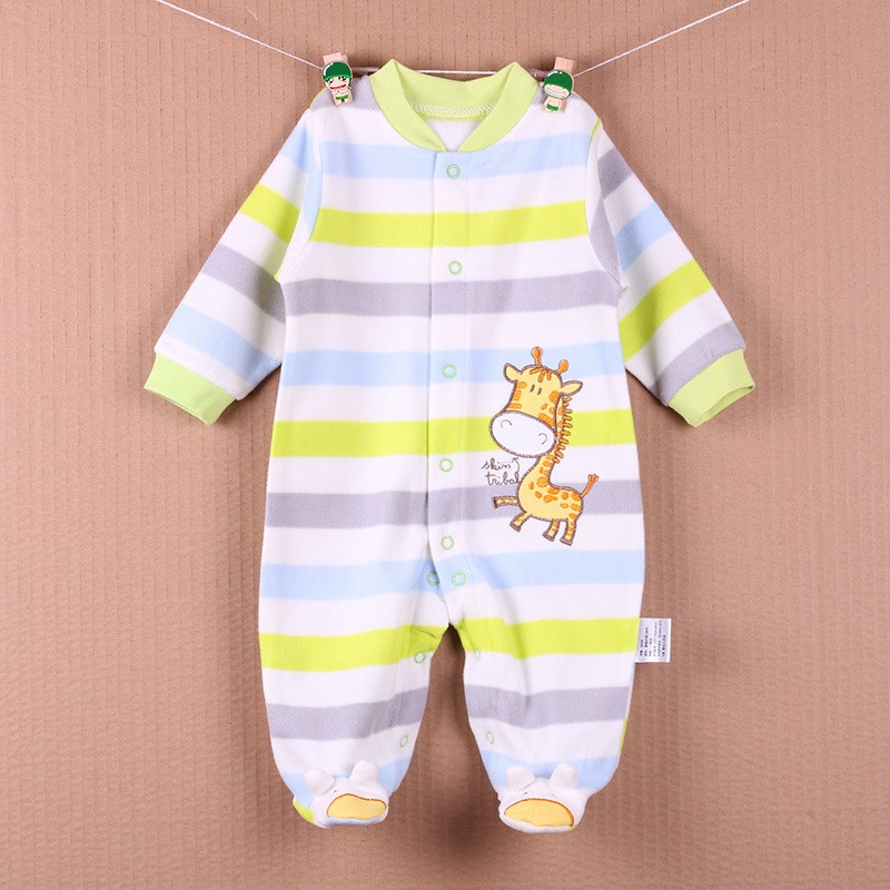 New Arrival Baby Footies Boys&Girls Jumpsuits Spring Autumn Clothes Warm Cotton Baby Footies Fleece Baby Clothing Free Shipping (7)